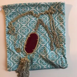 Kendra Scott Rayne necklace in maroon